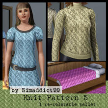 Sims 3 — Knit Pattern 5 by Simaddict99 — delicate, puffy diamond knit pattern. Use on sweaters, jackets and even bedding