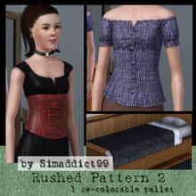 Sims 3 — Rushed Material 2 by Simaddict99 — gathered/rushed fabric pattern