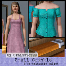 Sims 3 — Small Crinkle by Simaddict99 — crinkled, wrinkled and creased fabric - small pattern