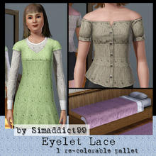 Sims 3 — Eyelet Lace by Simaddict99 — all-over eyelet lace pattern