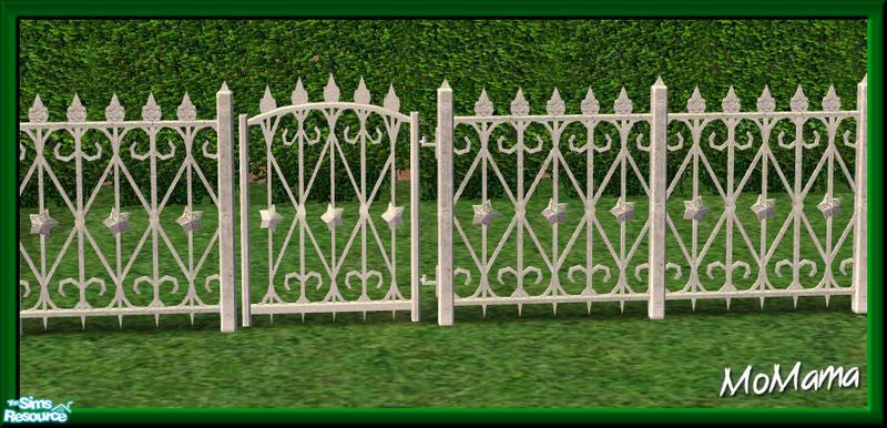 Nk White Build Set Wrought Iron Fence