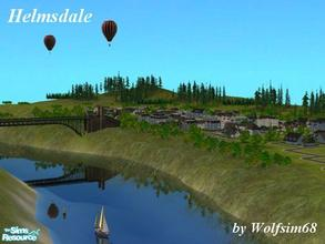 Sims 2 — Helmsdale by Wolfsim68 — This riverside city features a left bank & right bank full of windy little streets,