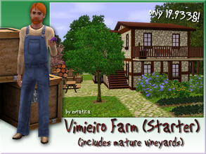 Sims 3 — Vimieiro Farm by estatica — This old farm may be cheap, but some people consider it a real treasure! Vineyards