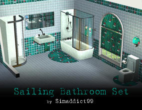 Sims 3 —  Sailing Bathroom by Simaddict99 — cool and refreshing sailboat/seaside themed bathroom set