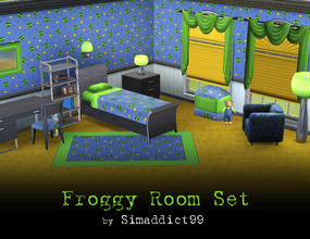 Sims 3 —  FroggyRoom by Simaddict99 — fun and funky frog themed boys room