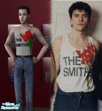 Sims 2 — The Smiths Gladioli Vest by Bella Russe — I\'ve noticed a general lack of Smiths and Morrissey items across the