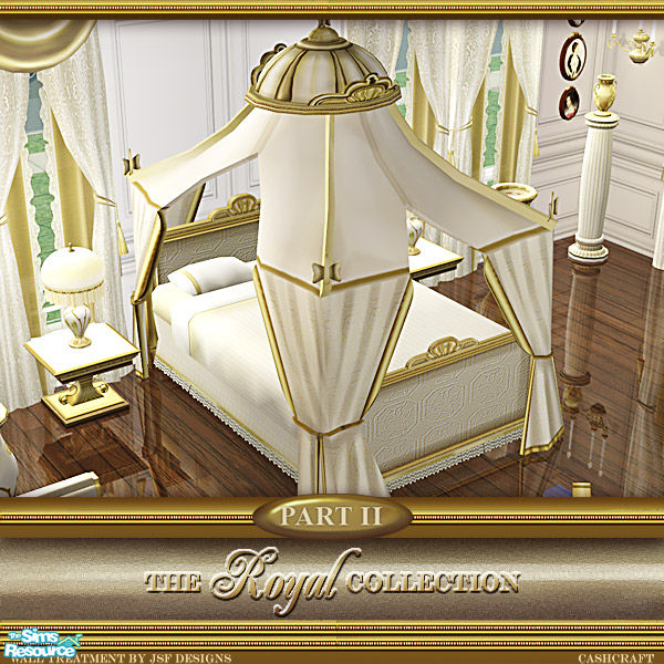 cashcraft's Royal Collection Canopy - Canopy Cream Recol
