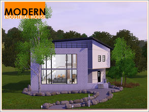 Sims 3 — Modern Industrial House by Leomo — This Modern Industrial House used to be an office building, but has been