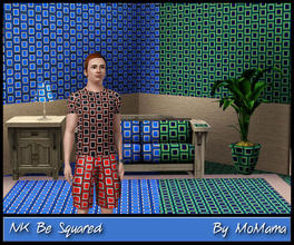 Sims 3 — NK Be Squared by MoMama by MoMama — A pattern of squares for a variety of uses. By MoMama.