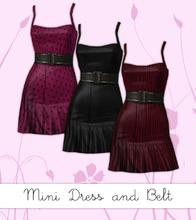 Sims 3 — Mini Cinch Belt Dress by hrekkjavaka — Pretty dress with a thick leather cinch belt.