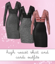 Sims 3 — High Waisted Smart Skirt and Cardi by hrekkjavaka — I've had a few requests and nudges to do my high waisted