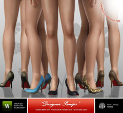 Sims 3 — Desinger Pumps by b-bettina — Classic designer pumps - for every super-chic fashionista simgal out there! 5