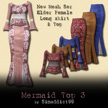 Sims 3 —  New Mesh Set - Mermaid Skirt & top - EF by Simaddict99 — mermaid style, ankle length skirt and flared top.