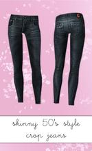 Sims 3 — 50's Style Skinny Crop Jeans by hrekkjavaka — Ankle length skinny jeans. These reminded of those skinny cropped