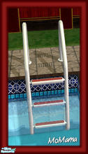 Sims 2 — NK Sun Fun - Pool Ladder by MoMama — A pool ladder in red and white.