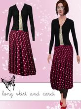Sims 3 — Long Skirt and Cardigan Outfit by hrekkjavaka — Long skirt, top and cardigan. A little reserved, yes, but then