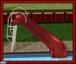 Sims 2 — NK Sun Fun - Pool Slide by MoMama — A pool slide in red and white.