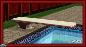 Sims 2 — NK Sun Fun - Diving Board by MoMama — A diving board in red and white.
