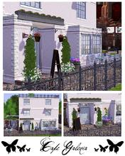 Sims 3 — Cafe Galenia by hrekkjavaka — Cafe Galenia, a pretty little cafe for your sims to hang out, even play a game of