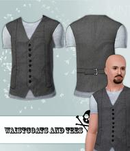 Sims 3 — Waistcoat and T-Shirt by hrekkjavaka — A simple t-shirt and waistcoat.