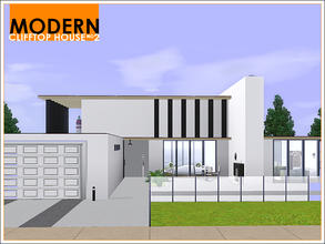 Sims 3 — Modern Clifftop House 2 by Leomo — This second Modern Clifftop House looks quite simplistic on the outside, and