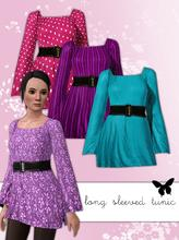 Sims 3 — Longer Tunic Top: New Mesh by hrekkjavaka — Longer Tunic Top, longer sleeves and slightly longer length.