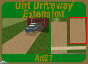 Sims 2 — Rugged Dirt Driveway - Extension by ad27 — This is a realistic rugged dirt driveway! Looks great on everything