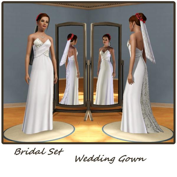 Wedding Altar Sims 3: Mensure's Bridal Set-WeddingGown