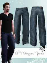 Sims 3 — Baggier Jeans: New Mesh by hrekkjavaka — I thought the baggy jeans that came with the game were just not baggy