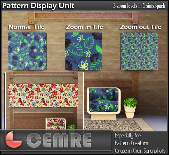 The Sims Resource Elegant Bathroom: Cemre's Pattern Display Unit