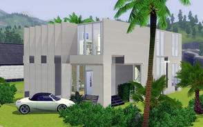 Sims 3 — Modern space by chouyen2002 — The house includes a living room, a Kitchen, 2 bathroom, 2 bedroom, a baby room.