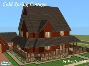 Sims 2 — Cold Spring Cottage by Wolfsim68 — This family home features an Entrance, Living, Kitchen/Dining & a Toilet