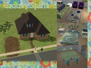 Sims 2 — Groovy Spirit by Ariana31Player — A starter house wich can make any colorful groovy sim happy. A very nice house