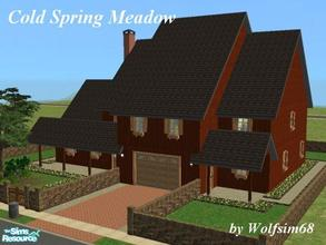 Sims 2 — Cold Spring Meadow by Wolfsim68 — Another rustic family home with a Living, Dining/Kitchen, Music Room & 2