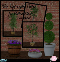 Sims 2 — Tug Tiny Lights Potted by DOT — Tug Tiny Lights for Potted plants. No Cheat. *THIS IS THE BASE MESH* Sims 2 by