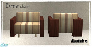 Sims 2 — Brno Chair by Mutske — New Mesh. You need to have the main mesh for the texture. Brno Sofa.
