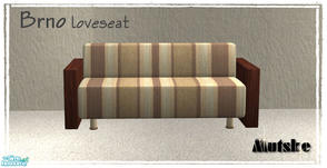 Sims 2 — Brno Loveseat by Mutske — New Mesh. You need to have the main mesh for the texture. Brno Sofa.