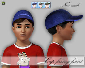 Sims 3 — CD_CapMaleChild by TSR Archive — Not all kids wear the cap back to front, so I turned it around. For boys and