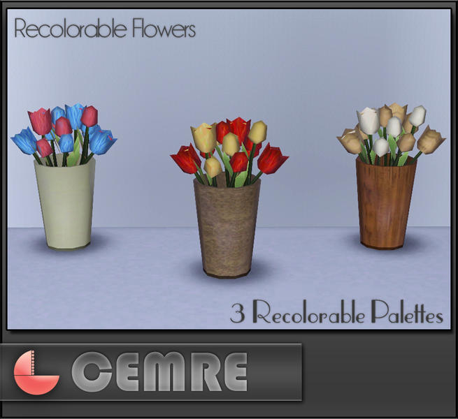 The Sims Resource Elegant Bathroom: Cemre's Coastal Living Series Sweet Flowers