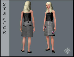 Sims 3 — steffor first mesh skirt by steffor — this is my first mesh skirt, I bought the same skirt for me and I think my