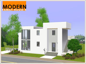 Sims 3 — Modern Family House 4 by Leomo — This fourth Modern Family House includes a kitchen with dining area, a living