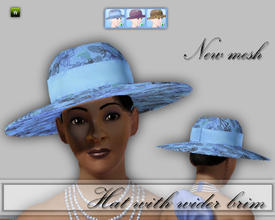 Sims 3 — CD_Hat with Wider Brim by TSR Archive — Lovely hat for summer days, with a wider, flatter brim. For females