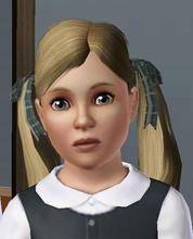 Sims 3 — FemaleChildRibbonPigtails by rose-maman — Female Child Ribbon Pigtails, recolorable fully...:0)