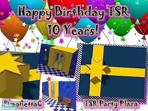 Sims 2 — TSR Party Plaza by SimonettaC — Celebrate 10 years of TSR! Built to look like a birthday present. 1 Story, 2