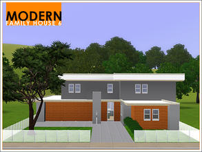 Sims 3 — Modern Family House 6 by Leomo — This Modern Family House has three bedrooms, and would be great for a family of