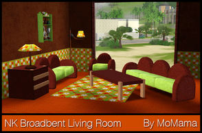 Sims 3 — NK Broadbent Living Room by MoMama — A cozy living room for your more relaxed Sims.