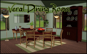 Sims 3 —  Veral Dining Room by sim_man123 — Dining Room remake of my Veral Dining Room from TS2 for TS3. Contains table,