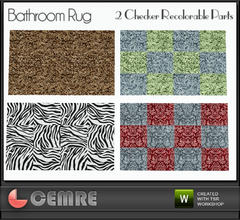 Sims 3 — Vingrona Bathroom Design Bathroom Rug by cemre — The carpet pattern I made is not included in the set, Can be