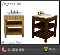 Sims 3 — Vingrona Bathroom Design Sink by cemre — Vingrona Bathroom Design Sink by Cemre for The Sims Resource