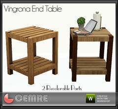 Sims 3 — Vingrona Bathroom Design End Table by cemre — Vingrona Bathroom Design End Table by Cemre for The Sims Resource